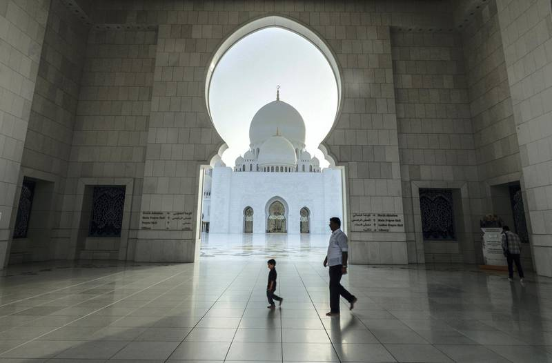 Abu Dhabi, United Arab Emirates, May 6, 2019.    First day of Ramadan at the Sheikh Zayed Grand Mosque. Victor Besa/The NationalSection:  NAReporter: