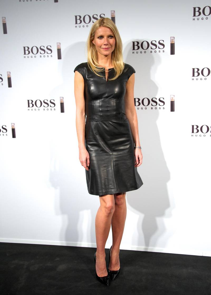 """MADRID, SPAIN - OCTOBER 29:  Actress Gwyneth Paltrow presents the new """"Boss Nuit Pour Femme"""" Hugo Boss parfum at the Neptuno Palace on October 29, 2012 in Madrid, Spain.  (Photo by Carlos Alvarez/Getty Images)"""