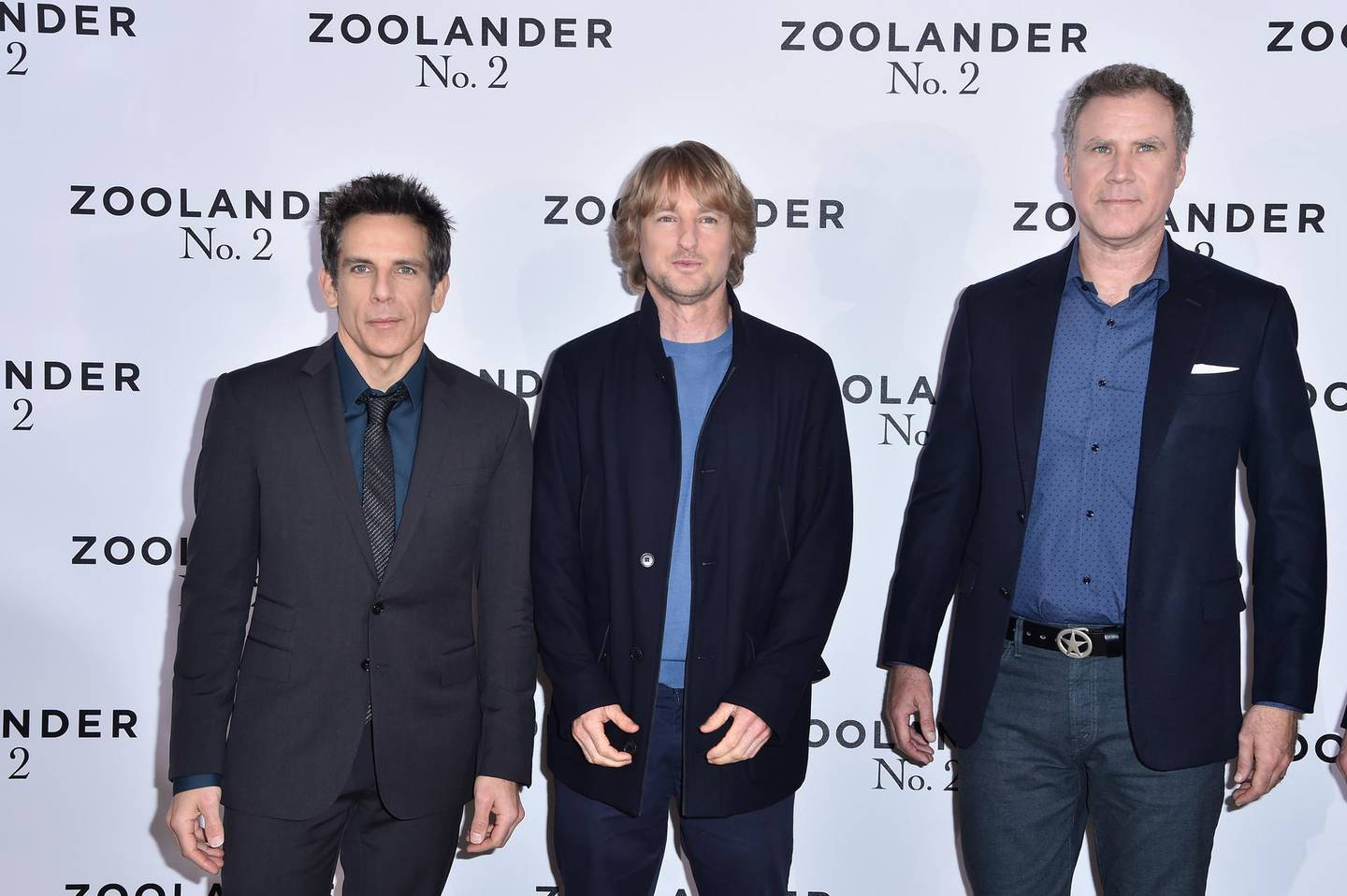 """PARIS, FRANCE - JANUARY 29:  Ben Stiller,Owen Wilson and Will Ferrell attend the Photocall  ahead of the Paris Fan Screening of the Paramount Pictures film """"Zoolander No. 2""""  at Hotel Plaza Athenee on January 29, 2016 in Paris, France.  (Photo by Pascal Le Segretain/Getty Images For Paramount)"""
