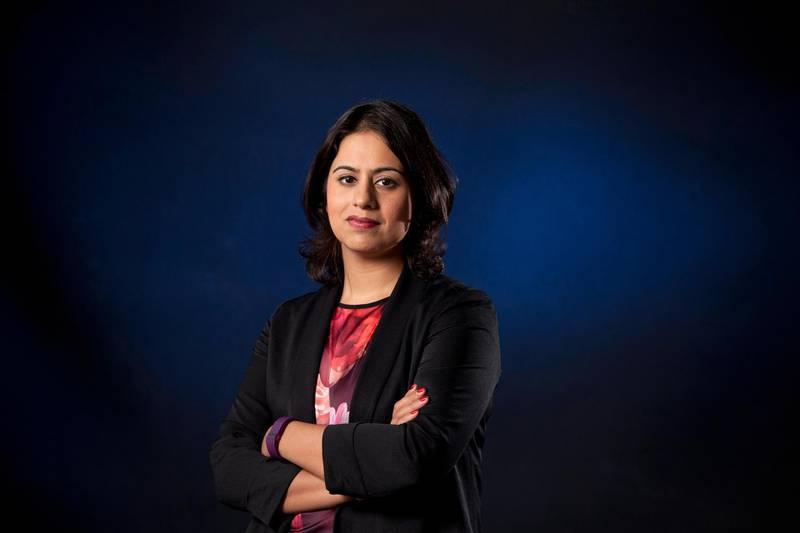 GR8WXG Sara Khan, the British Muslim human rights activist and the director of Inspire, at the Edinburgh International Book Festival. Edinburgh, Scotland.28th August 2016. GARY DOAK / Alamy Stock Photo