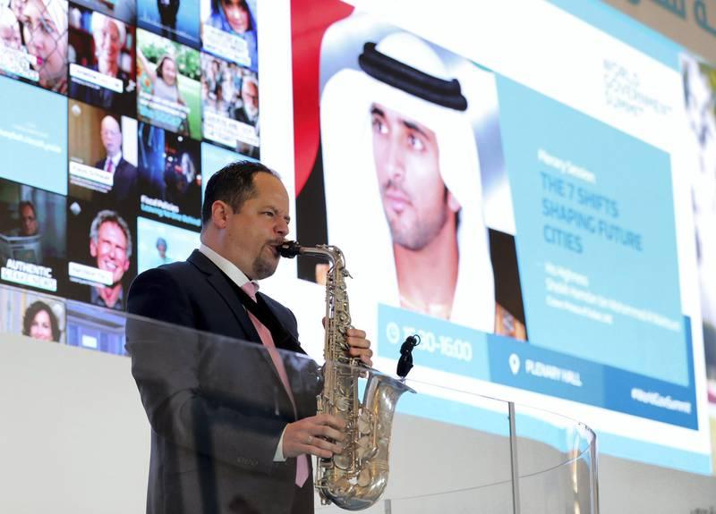 Dubai, United Arab Emirates - February 11, 2019: Day 2 at the World Government Summit. Monday the 11th of February 2019 at Madinat, Dubai. Chris Whiteoak / The National