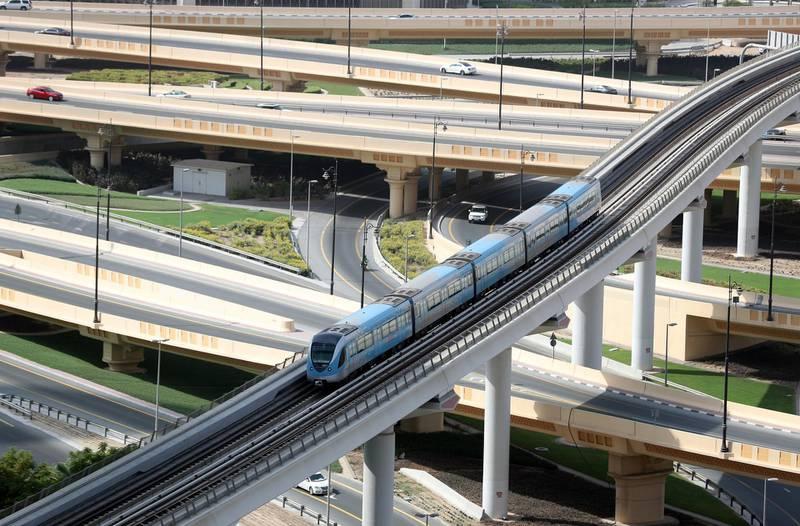 Dubai, United Arab Emirates - Reporter: N/A. Standalone. General View of the metro in Downtown Dubai. Monday, August 24th, 2020. Dubai. Chris Whiteoak / The National