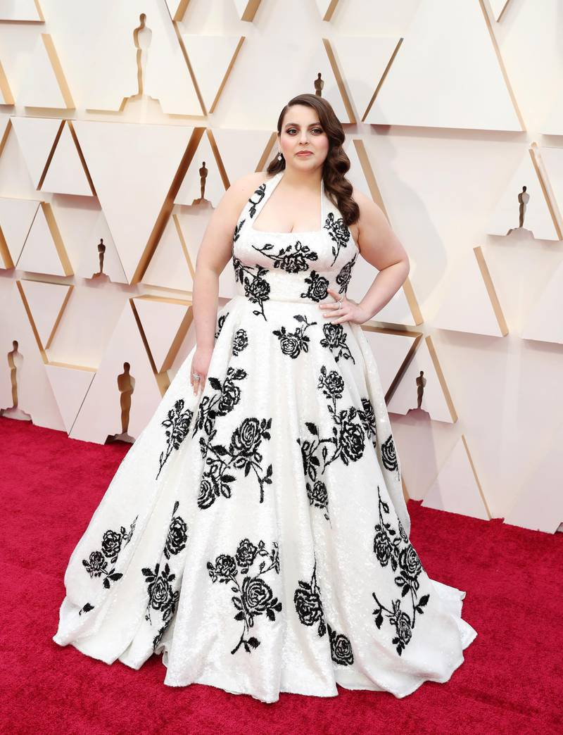 epa08207021 Beanie Feldstein arrives for the 92nd annual Academy Awards ceremony at the Dolby Theatre in Hollywood, California, USA, 09 February 2020. The Oscars are presented for outstanding individual or collective efforts in filmmaking in 24 categories.  EPA-EFE/DAVID SWANSON
