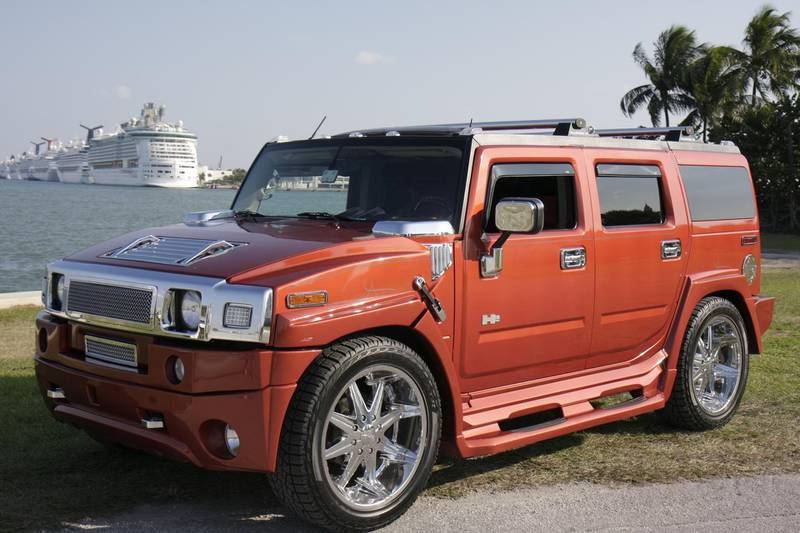 A customized Hummer in Bicentennial Park. (Photo by: Jeffrey Greenberg/Universal Images Group via Getty Images)