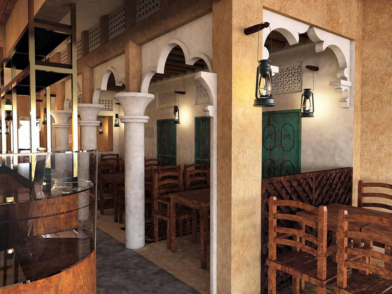 A 3D model of how Gloucester Road restaurant will look. Credit: Al Fanar