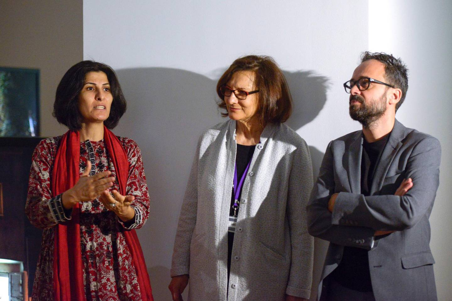 Abu Dhabi, United Arab Emirates - Sandi Hilal and Alessandro Petti art practice is a collaborative showcase of conceptual and artistic discourse ÔrefugeenessÕ as a state of being at the Art Gallery in New York University, Saadiyat on February 22, 2018. (Khushnum Bhandari/ The National)