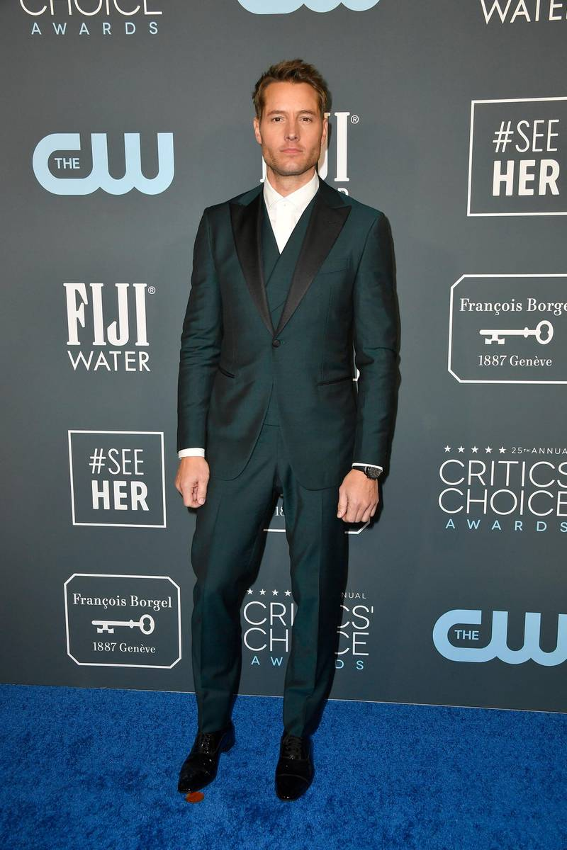SANTA MONICA, CALIFORNIA - JANUARY 12: Justin Hartley attends the 25th Annual Critics' Choice Awards at Barker Hangar on January 12, 2020 in Santa Monica, California.   Frazer Harrison/Getty Images/AFP