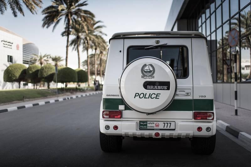 Dubai police supercar fleet.  Mercedes-Benz Brabus 700.  Courtesy WSF Creative *** Local Caption ***  wk01ma-police4-PG.jpg