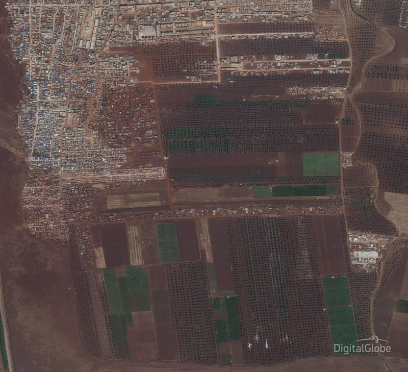 Idlib Displacement Camp A.This image was taken on 26/09/2018. Cpourtesy Digital Globe