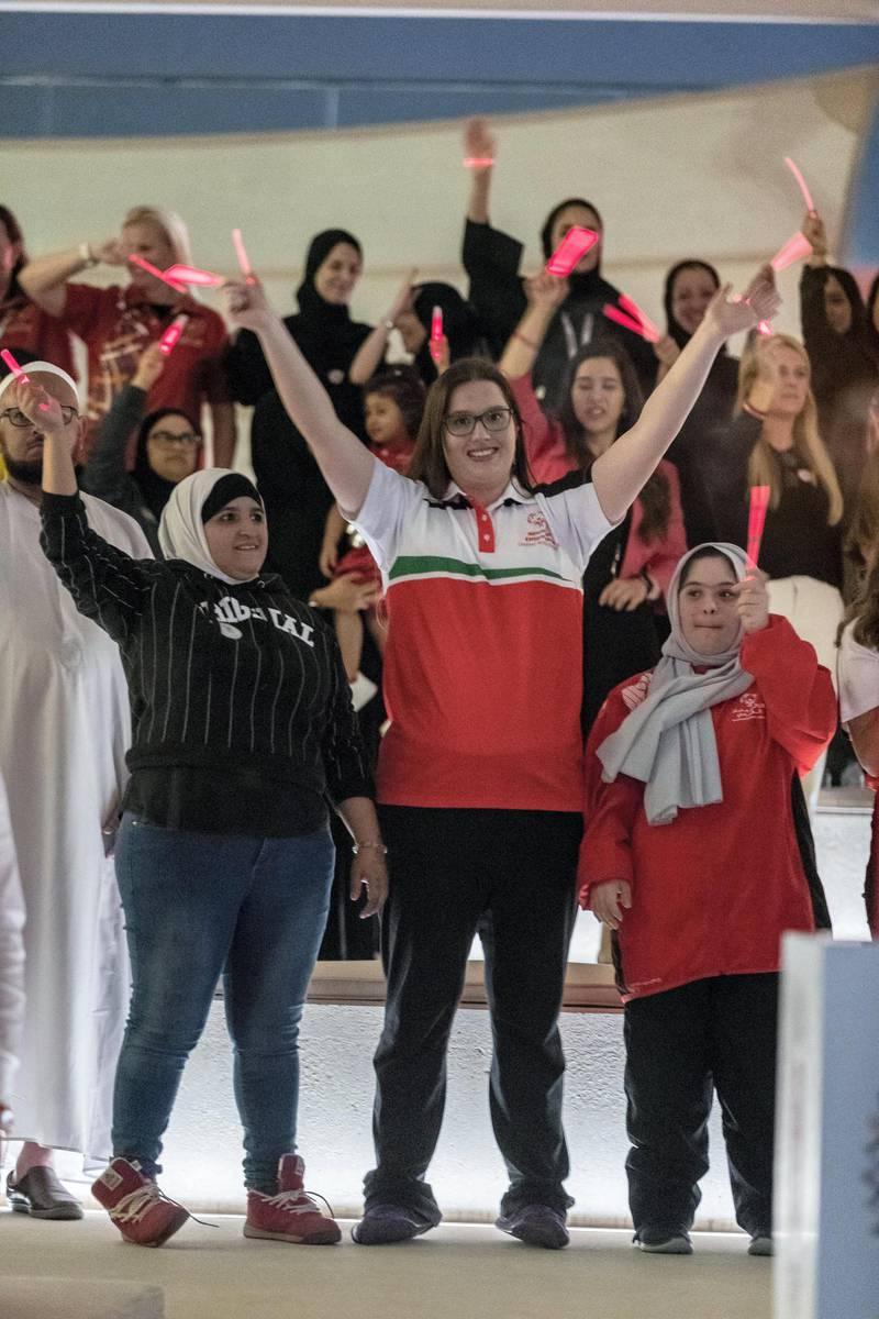 ABU DHABI, UNITED ARAB EMIRATES. 04 DECEMBER 2018. Special Olympics CNN Live broadcast from Wahat Al Karama. (Photo: Antonie Robertson/The National) Journalist: Shereena Al Nuwais. Section: National.