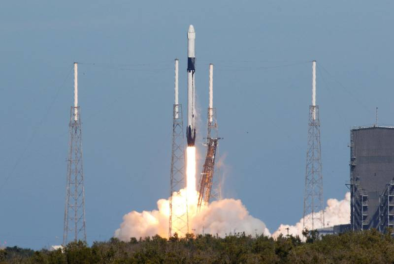 A SpaceX Dragon cargo craft launches aboard a Falcon 9 rocket to deliver supplies and equipment to the International Space Station from the Cape Canaveral Air Force Station in Cape Canaveral, Florida, U.S., December 5, 2018. REUTERS/Joe Skipper