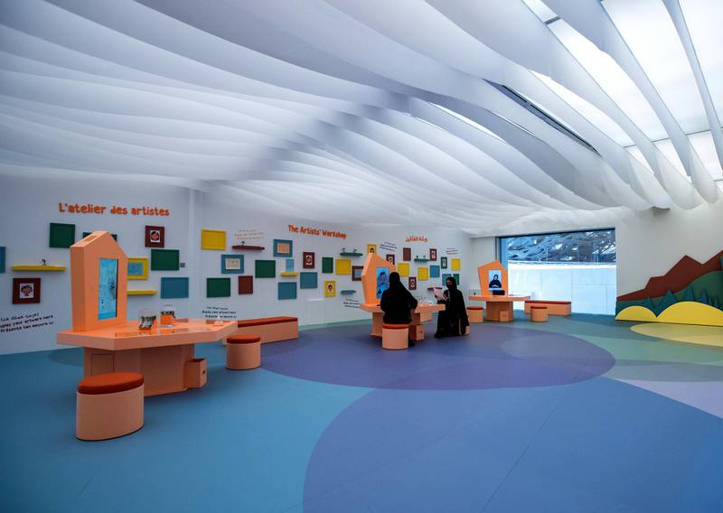 Louvre Abu Dhabi Children's Museum reopens this week. Preview/tour of the revamped space June, 15, 2021.  Victor Besa / The National. Reporter: Alexandra Chaves for Arts & Culture