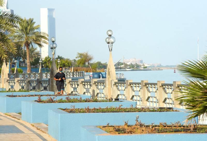 Abu Dhabi, United Arab Emirates, June 14, 2020.     Hazy morning at downtown Abu Dhabi. Victor Besa  / The NationalSection:  weatherReporter: