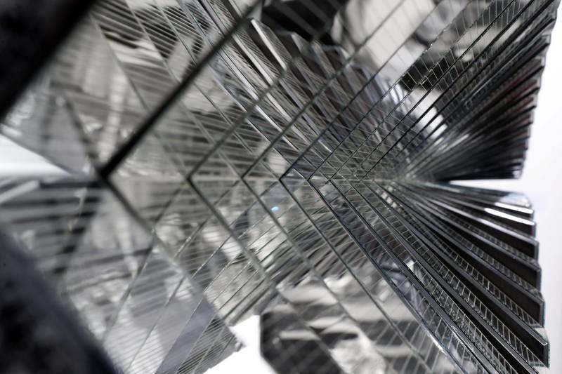 Dubai, United Arab Emirates - Reporter: Alexandra Chaves. Arts and Lifestyle. Mirror 5 by Aref Montazeri. Art Dubai 2021 opens at the DIFC. Tuesday, March 30th, 2021. Dubai. Chris Whiteoak / The National