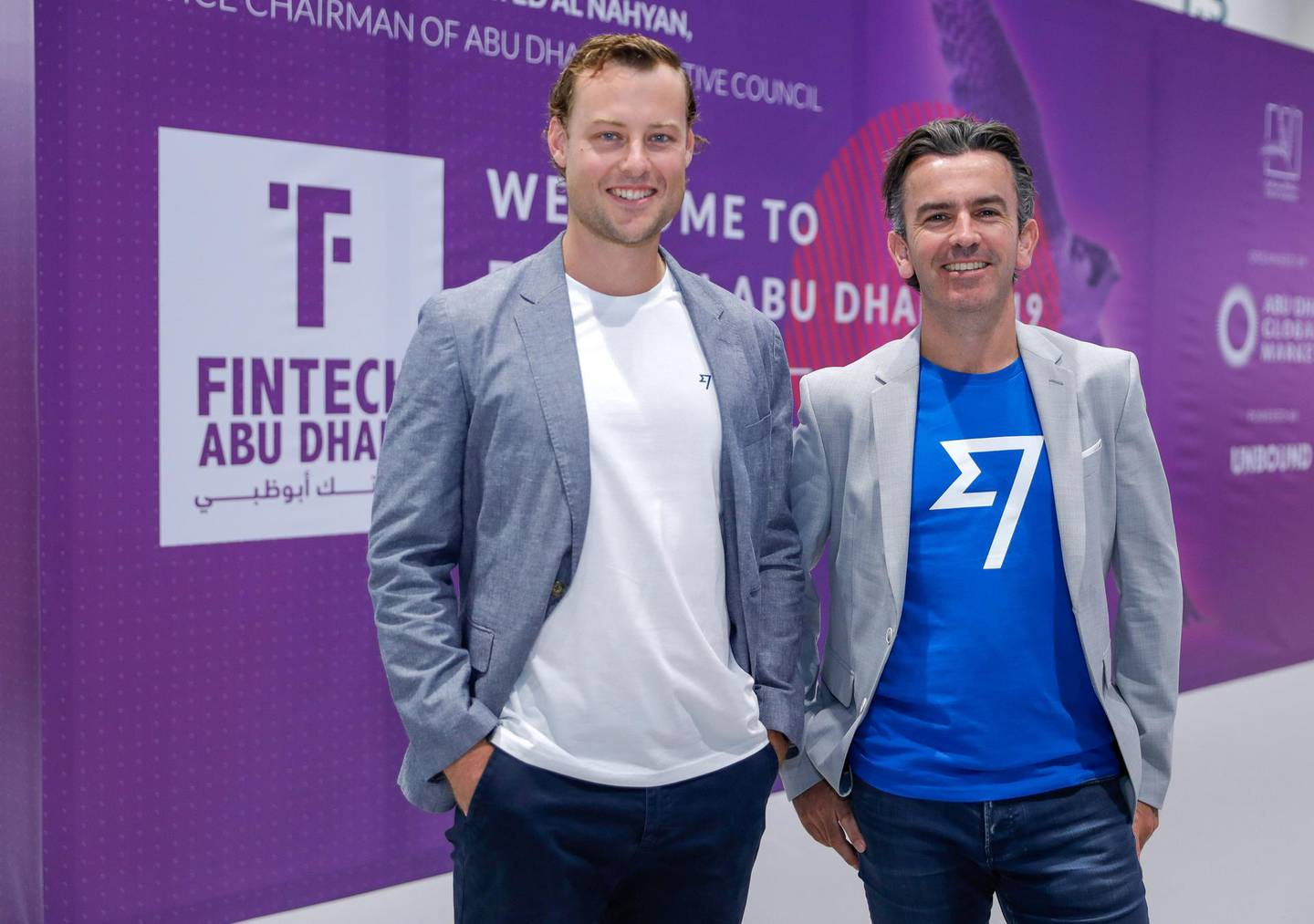 Abu Dhabi, United Arab Emirates, October 22, 2019.  Description:SECTION: BusinessSTORY BRIEF: Fintech Abu Dhabi  SUBJECT NAME: Fintech Abu Dhabi--  Matthew Briers, CFO, TransferWise and Tim Harley, TransferWise Head of Middle East.Victor Besa/The NationalSection:  BZReporter:  Nada El Sawy