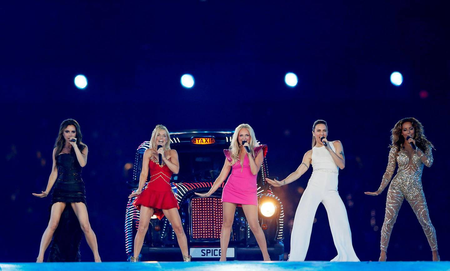FILE PHOTO: FILE PHOTO: The Spice Girls perform during the closing ceremony of the London 2012 Olympic Games at the Olympic Stadium, August 12, 2012. REUTERS/Stefan Wermuth/File Photo