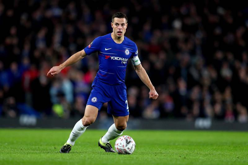 LONDON, ENGLAND - JANUARY 27:  Cesar Azpilicueta of Chelsea during the FA Cup Fourth Round match between Chelsea and Sheffield Wednesday at Stamford Bridge on January 27, 2019 in London, United Kingdom. (Photo by Catherine Ivill/Getty Images)