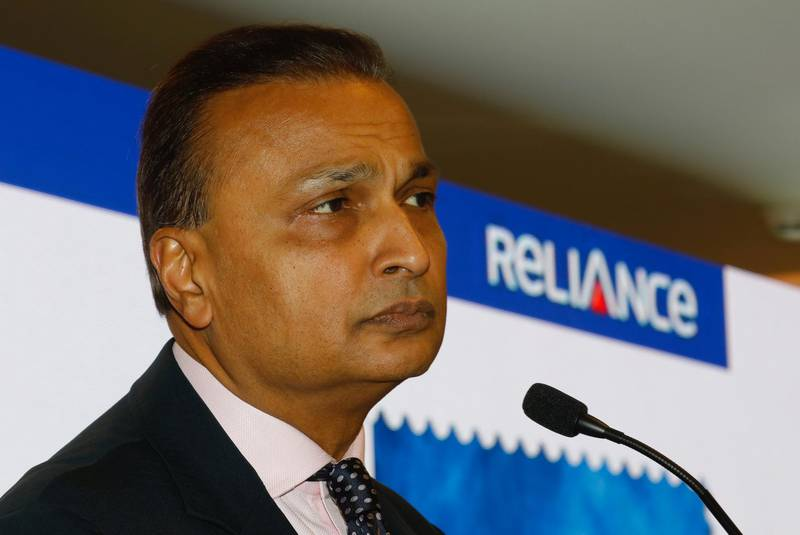 Anil Ambani, Chairman of India's Reliance Communication, addresses a news conference at the company's headquarters in Mumbai, India, December 26, 2017. REUTERS/Danish Siddiqui