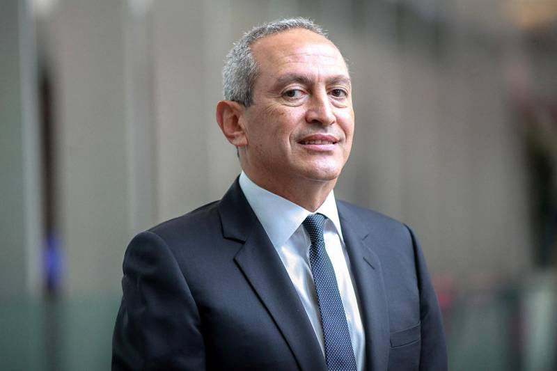 Nassef Sawiris, chief executive officer of Orascom Construction, poses for a photograph after a television interview at Bloomberg headquarters in New York, New York, on Wednesday, Sept. 5, 2012. Photographer: Stephen Yang/Bloomberg News