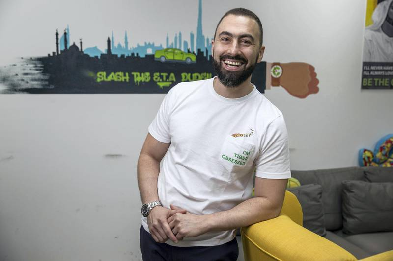 DUBAI, UNITED ARAB EMIRATES. 28 September 2017. Bassel Al Nahlaoui, Managing Director of GCC for Careem attheir offices in Shatha Tower. (Photo: Antonie Robertson/The National) Journalist: None. Section: Business.