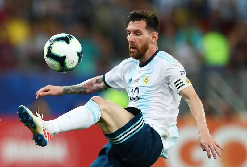 Soccer Football - Copa America Brazil 2019 - Quarter Final - Venezuela v Argentina - Maracana Stadium, Rio de Janeiro, Brazil - June 28, 2019   Argentina's Lionel Messi in action REUTERS/Pilar Olivares