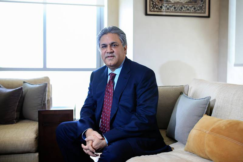 DUBAI, UAE. May 4, 2014 -  Arif Naqvi, CEO of Abraaj Capital, is photographed in his DIFC office in Dubai, May 4, 2014. (Photos by: Sarah Dea/The National, Story by: Frank Kane, Business)
