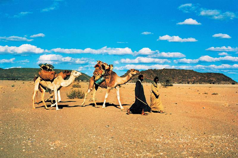 MAURITANIA - MARCH 5: Nomads called Blue Men, Western Sahara desert, Mauritania. (Photo by DeAgostini/Getty Images)