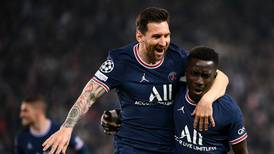 Lionel Messi can't contain his joy after finally scoring for PSG - in pictures