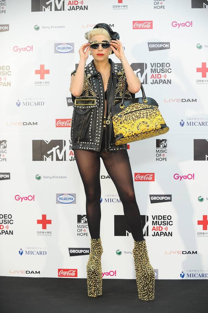CHIBA, JAPAN - JUNE 25:  LADY GAGA  during the MTV Video Music Aid Japan at Makuhari Messe on June 25, 2011 in Chiba, Japan.  (Photo by Hikaru Ogawa/Getty Images)