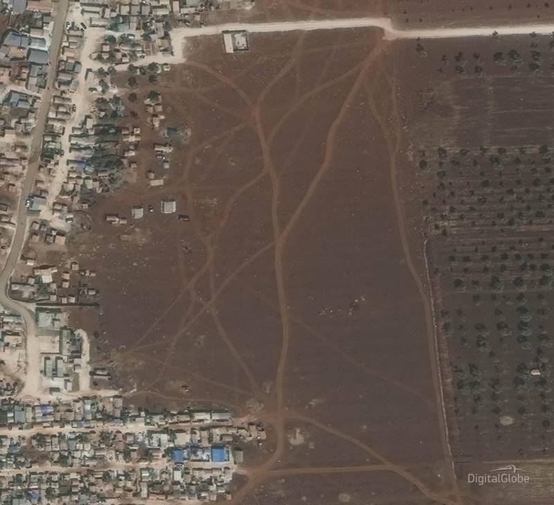 Idlib Displacement Camp A. This image was taken on 27/09/2017. Courtesy Digital Globe