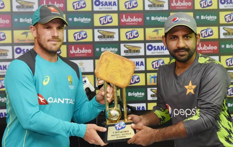 TUC Cup 2018 Pakistan v Australia T20I series trophy unveiling ceremony. Courtesy Pakistan Cricket Board