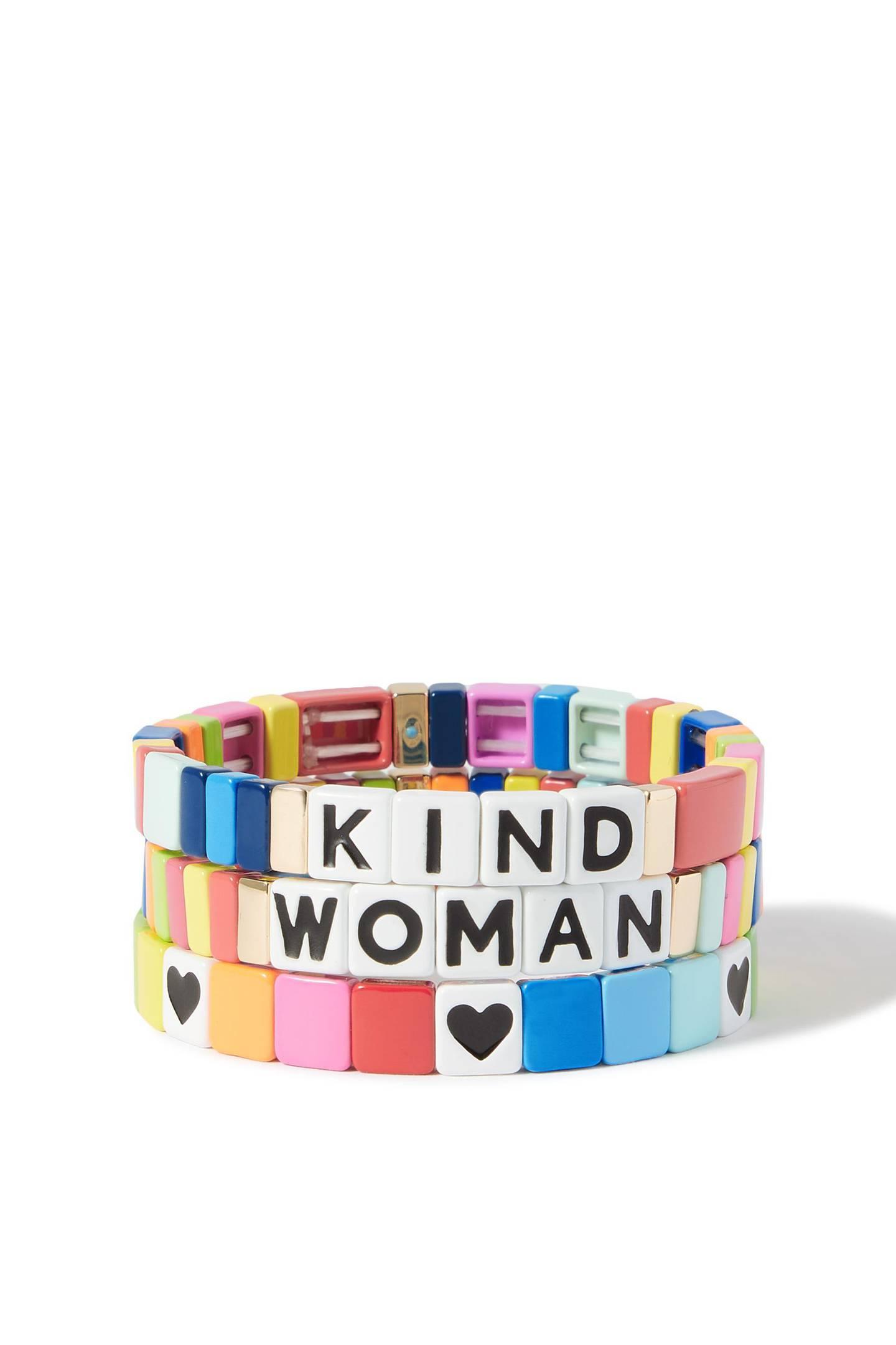 IWD Roxanne Assoulin 'Kind Woman' set of 3 bracelets