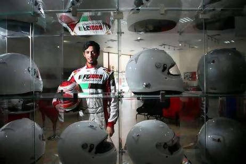 Abu Dhabi, United Arab Emitrates --- August 5, 2010 --- Haytham Sultan is a budding F1 race car driver.   ( Delores Johnson / The National )