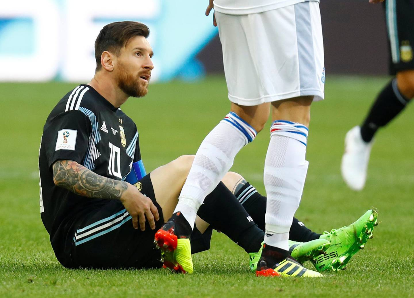 Soccer Football - World Cup - Group D - Argentina vs Iceland - Spartak Stadium, Moscow, Russia - June 16, 2018   Argentina's Lionel Messi looks on     REUTERS/Kai Pfaffenbach