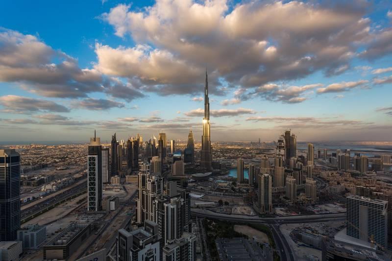 DUBAI,UAE - DECEMBER 10: A General view of Dubai Downtown at Sunset on December 10, 2016 in Dubai, United Arab Emirates. (Photo by Rustam Azmi/Getty Images) *** Local Caption ***  bz15ju-dubai-property.jpg