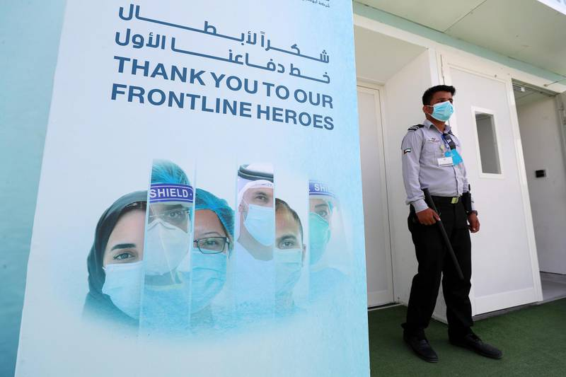 Visit to the SEHA field hospital for Covid-19 patients in Ajman on April 25th, 2021. Chris Whiteoak / The National.  Reporter: Kelly Clarke for News