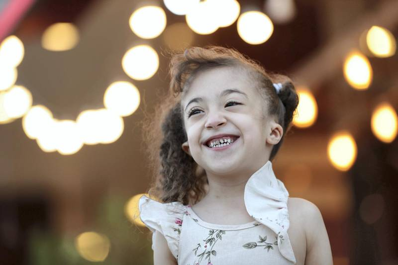 Sharjah, United Arab Emirates - Reporter: Salam Al Amir: 5 year-old Jana Abdulrahman saved after doctors diagnosed and treated a heart defect she was born with. Wednesday, March 18th, 2020. Sharjah. Chris Whiteoak / The National