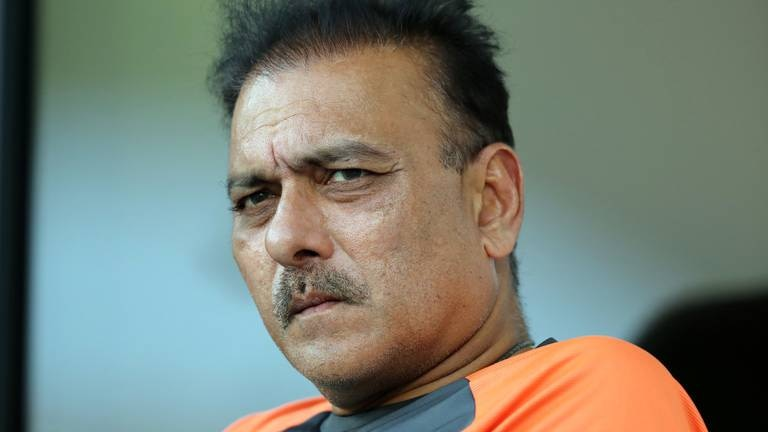 An image that illustrates this article India coach Shastri denies book launch led to positive Covid test