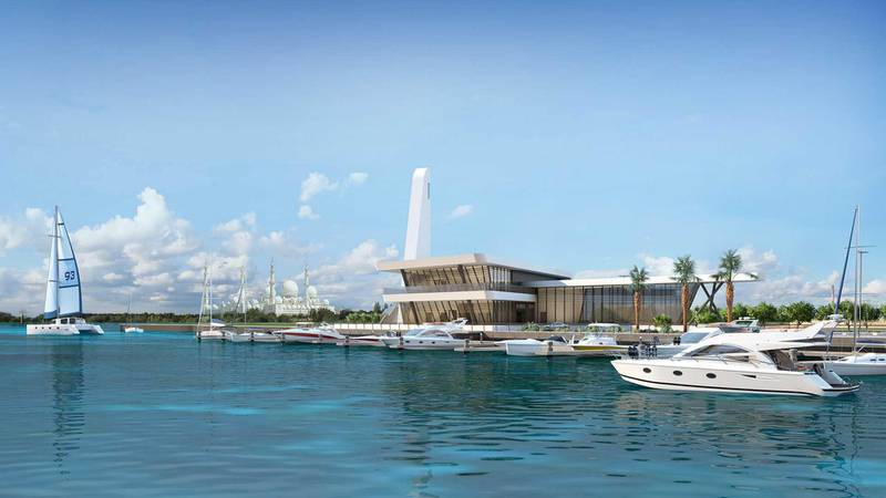 Al Qana - Marina and mosque. Courtesy Department of Urban Planning and Municipalities and Al Barakah International Investment