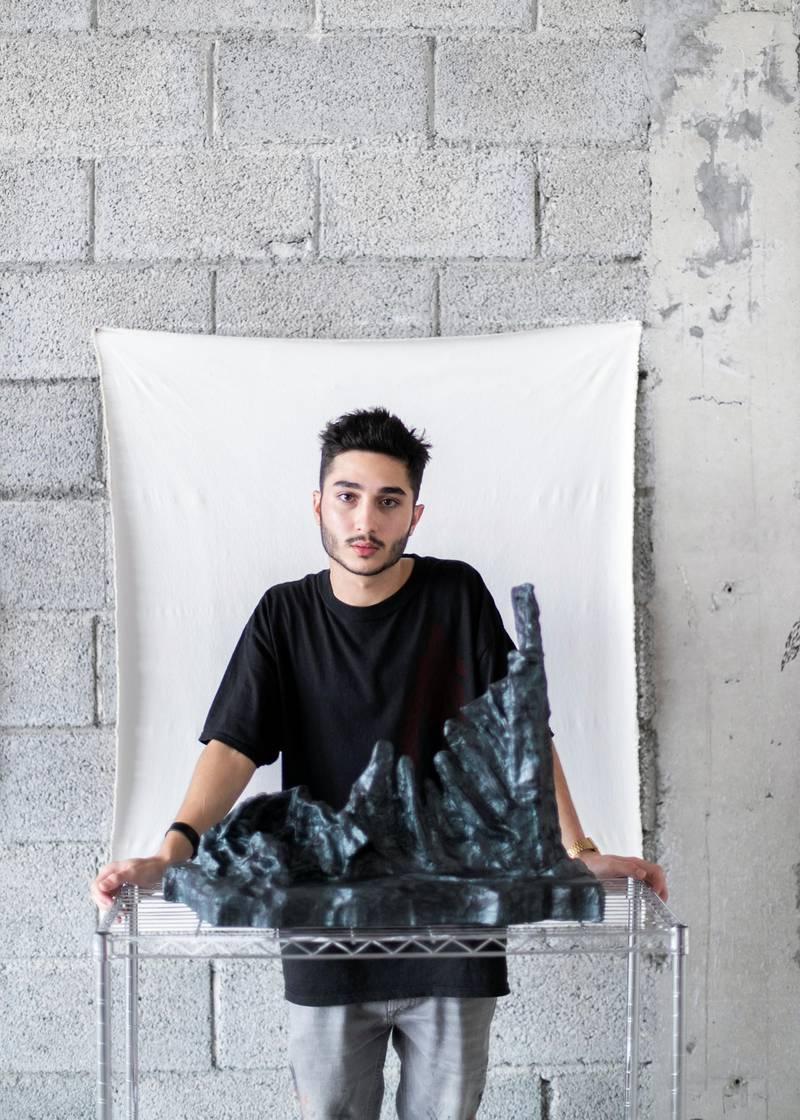 DUBAI, UNITED ARAB EMIRATES. 6 AUG 2020. Talal Al Najjar in his studio space Galleria Mall, Al Barsha.(Photo: Reem Mohammed/The National)Reporter:Section: