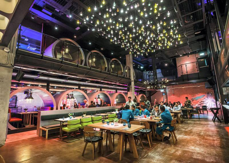 DUBAI, UNITED ARAB EMIRATES - A restaurant at a preview of new entertainment complex, Warehouse at Atlantis The Palm Dubai.  Leslie Pableo for The National for Katy Gillett's story