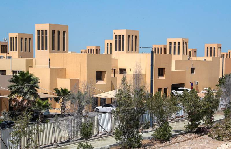 Abu Dhabi, United Arab Emirates, March 2, 2021.   Stock images of Yas residential areas. Residential villas at Yas North.Victor Besa / The NationalSection:  NA