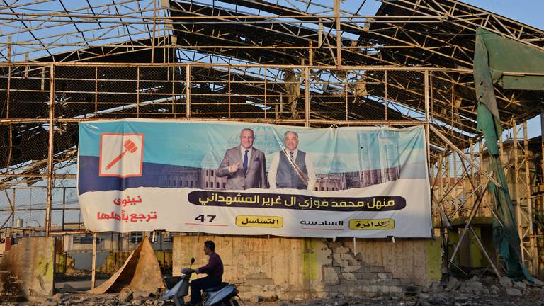 An image that illustrates this article Mosul election campaign - in pictures