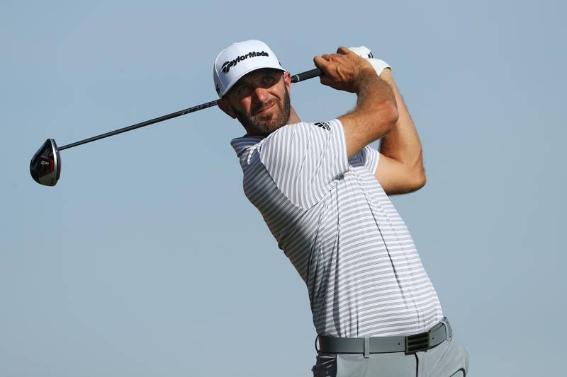 ABU DHABI, UNITED ARAB EMIRATES - JANUARY 17: Dustin Johnson of the United States plays his shot from the 11th tee during Day Two of the Abu Dhabi HSBC Golf Championship at Abu Dhabi Golf Club on January 17, 2019 in Abu Dhabi, United Arab Emirates. (Photo by Warren Little/Getty Images)