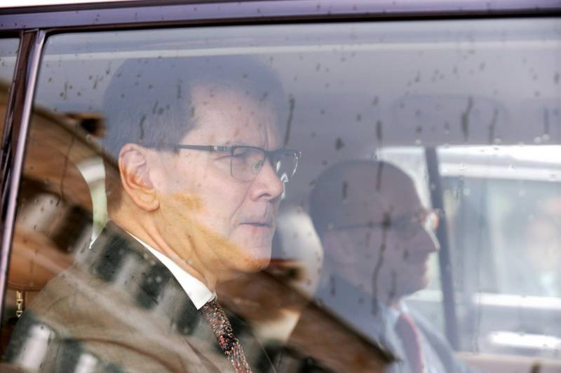 FILE PHOTO: Members of IMF experts are seen leaving after meeting with Lebanese Prime Minister Hassan Diab at the government palace in Beirut, Lebanon February 20, 2020. REUTERS/Mohamed Azakir/File Photo