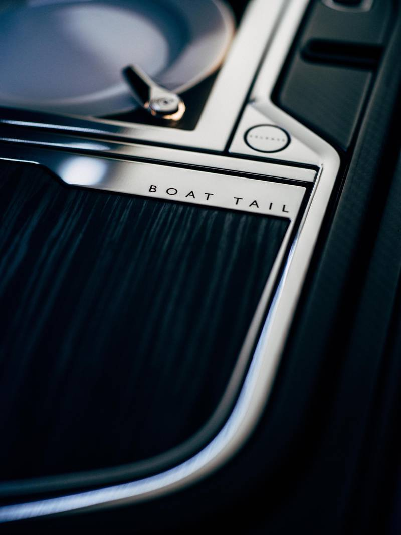 Rolls-Royce Boat Tail  hsoting suite details. Courtesy Rolls-Royce