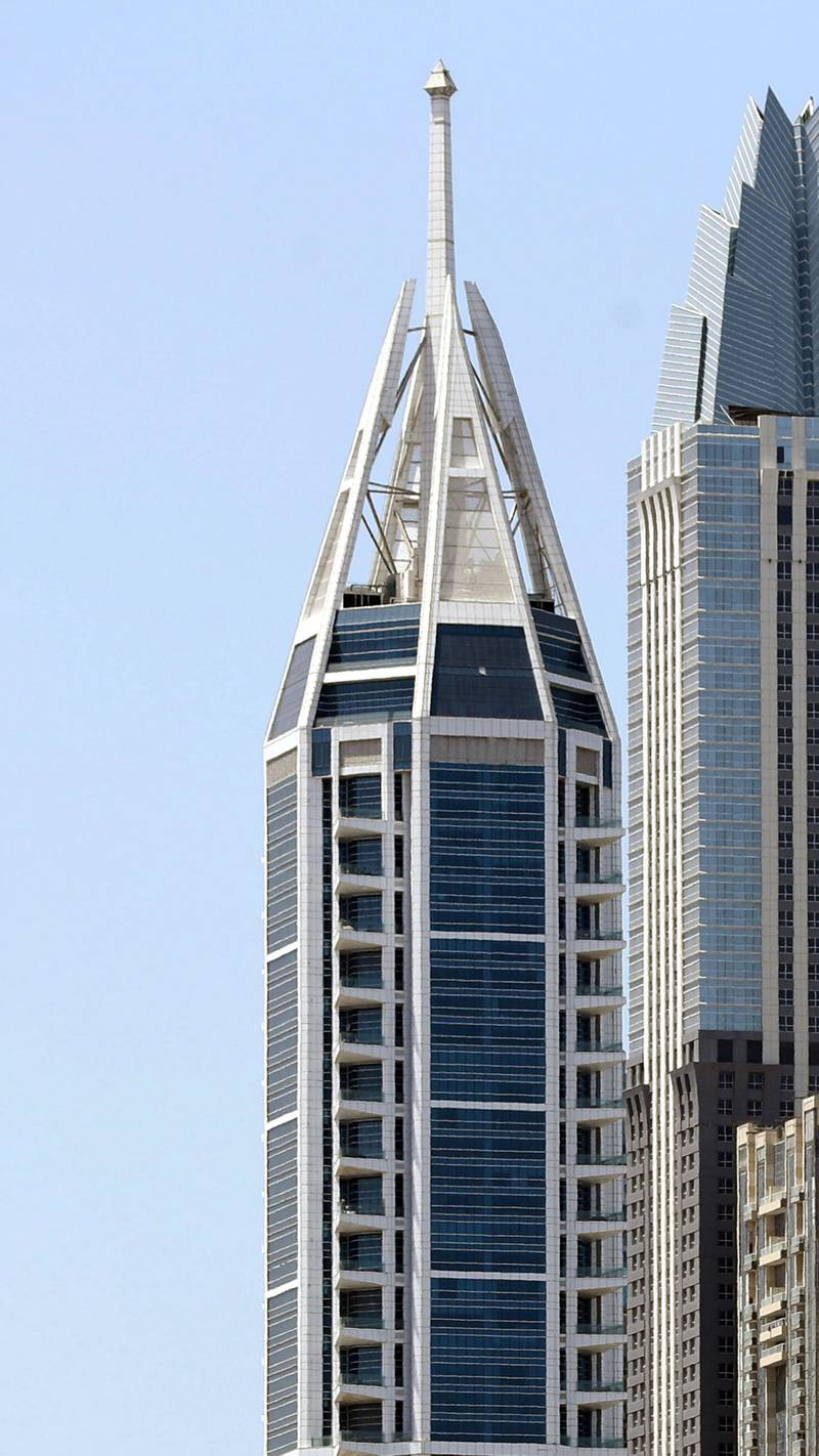 Dubai, United Arab Emirates - Reporter: N/A: General View of Dubai Marina skyscrapers on a very clear day. Tuesday, April 14th, 2020. Dubai. Chris Whiteoak / The National