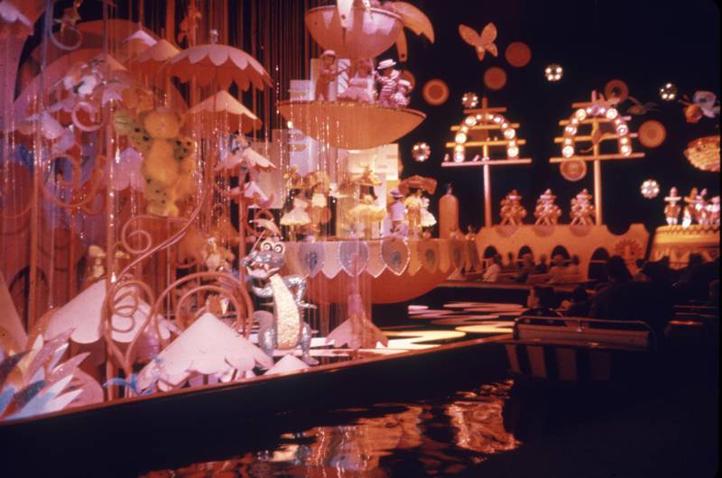 View of the Pepsi Cola exhibit, created by Walt Disney, at New York World's Fair, Flushing, New York, New York, May 1964. (Photo by Ben Martin/Getty Images)