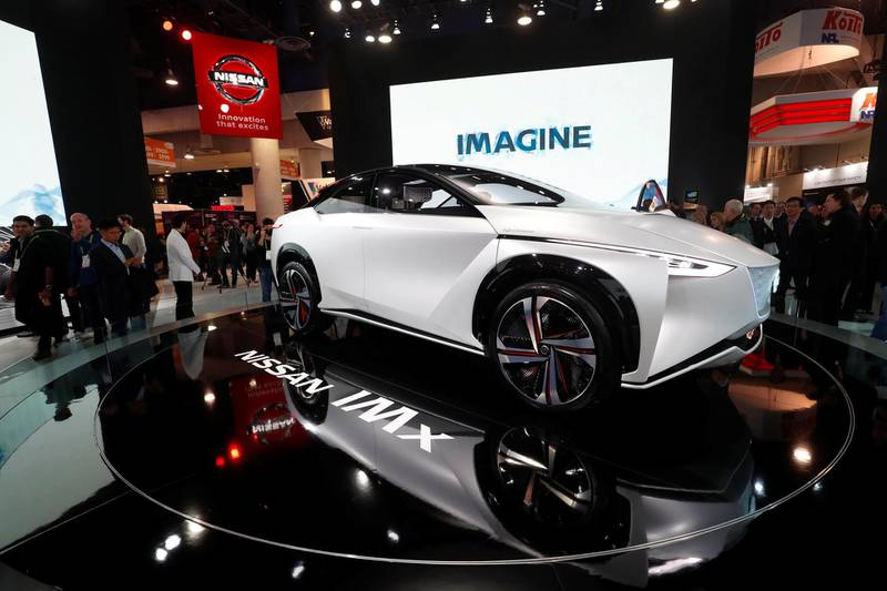 Nissan's IMx electric concept car is displayed at the Las Vegas Convention Center during the 2018 CES in Las Vegas, Nevada, U.S. January 9, 2018. REUTERS/Steve Marcus