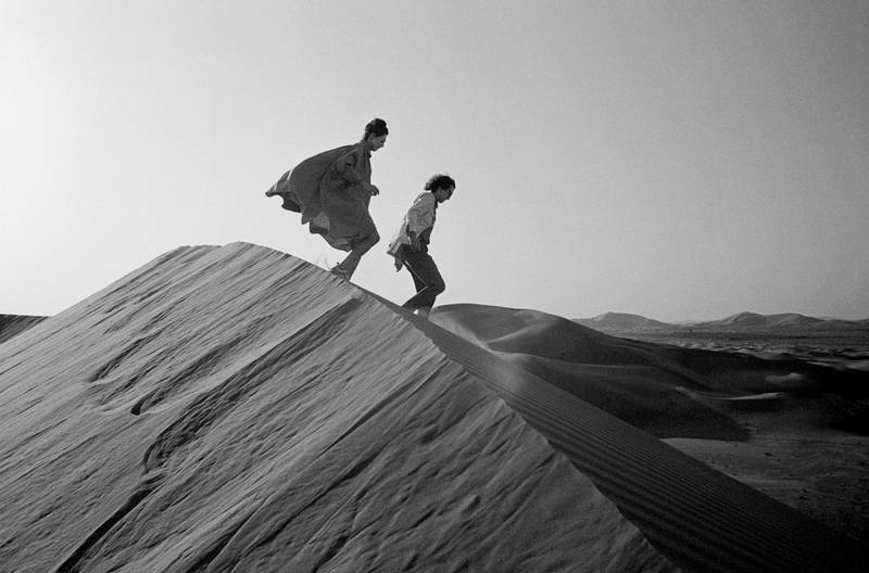 Christo and Jeanne-Claude looking for a possible site for The Mastaba February 1982 Photo: Wolfgang Volz © 1982 Christo *** Local Caption ***  na15mr-focus-christo3.jpg